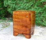 Art Deco Walnut Nightstand.