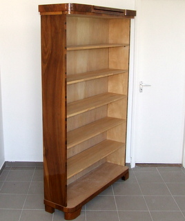Art Deco Walnut Bookcase.