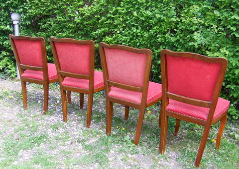 Art Deco chairs.