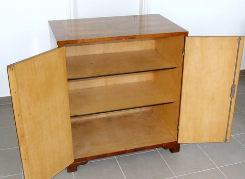 Art Deco walnut cabinet.