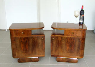 Art Deco bedside cabinets. Nightstands.