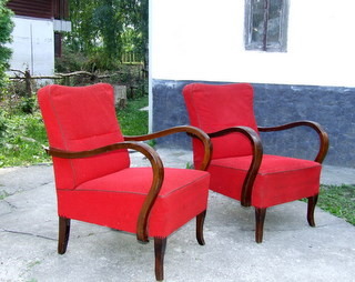 Superb pair of Art Deco Arm Chairs.