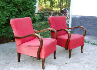 Art Deco Club Chairs. 1930's.