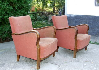Art Deco Armchairs. 1930's.