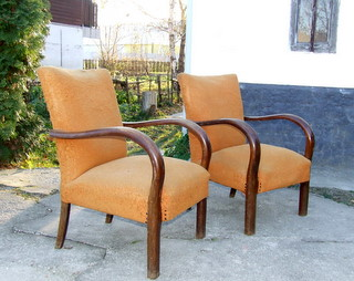 pair of Art Deco Armchairs.