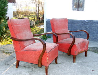 Stylish Pair of Art Deco Armchairs.
