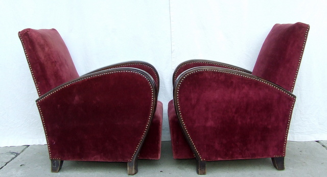 Vintage armchairs.