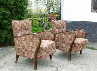 Pair of Art Deco Club Chairs.