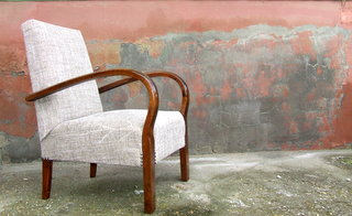 Single Art Deco Armchair.