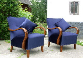 Art Deco Armchairs, Pair. 1920's.