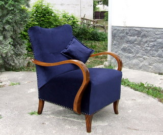Art Deco Single Armchair.