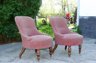 Pair of Victorian Nursing Chairs.